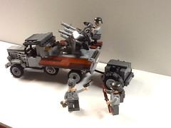 Opel Blitz with flakvierling (Dark Angel Enterprises) Tags: lego wwii blitz opel flakvierling