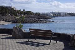 Bench - Playa Blanca Lanzarote - HBM! (Jo Evans1 - busy for a few days) Tags: sea bench day cloudy lanzarote playa blanca promenade monday hbm