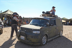 IMG_7166-3-3 (hypersapiens) Tags: 2005 party cars car ride desert post weekend apocalypse september vehicles event mojave convention finish gathering vehicle rides custom scion xb apocalyptic 2012 wasteland paintjob wastelanders wastelander fullset ww2012
