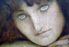 Fernand Khnopff, I Lock the Door Upon Myself, detail with face