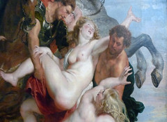 Rubens, The Rape of the Daughters of Leucippus, center detail