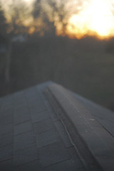 sunset on the roof (christine qabar) Tags: roof sunset beautiful set blurry focus blurred calm roofs serene sen mystuff soothing selective soothe sittingontheroof sitontheroof