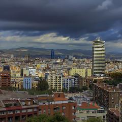 Barcelona (Pilar Azaña Talán ) Tags: barcelona city españa europa ciudad miramar torreagbar cataluña montjuïc elpirulí pilarazañatalán copyright©pilarazañatalán