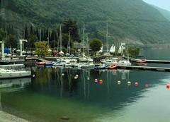 Early Morning on lake Garda (saxonfenken) Tags: morning italy marina boats calm bouys 821 lakegarda torbole gamewinner challengeyou challengeyouwinner friendlychallenge lakegarda7thoct 821boats