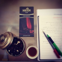 (Seema =)) Tags: morning coffee pen square heidi chocolate cranberry study dates coffe studying        iphoneography
