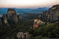 Meteora, Greece (varlamov) Tags: morning mountains sunrise landscape greece monastery meteora