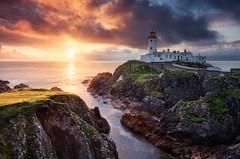 Fanad Light (mibreit) Tags: travel ireland light sun lighthouse clouds landscape licht sonne donegal leuchtturm fanad fanadhead