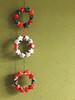 Mini Paper Stars Christmas Wreaths