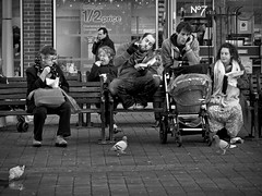 Planet Great Yarmouth (Gerry Balding) Tags: england people shop bench boots pigeons norfolk chips mobilephones greatyarmouth eastanglia chavs