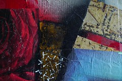 acrylics, collage on wood (mel-pin) Tags: detail collage work athens acrylics onwood  melana  cheapart18