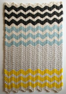 Chevron Baby Blanket in Merino pattern by Purl Soho