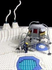 Cold Landing (Ludgonious) Tags: fiction snow ice liu lego space explorer science atlas geyser icy exploration lander