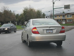 3 minute critique (SqueakyMarmot) Tags: vancouver dangerous toyota burnaby suburb camry baddriver trafficviolations 628jpd