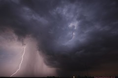 Lone Storm (thechasethestorm) Tags: sky storm weather midwest thunderstorm plains 2012 severe weatherphotography extremecloud extremesky cglighning