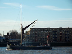Thames Sailing Barge Lady Daphne /02/12/2012/ (philip bisset) Tags: england westferry greaterlondon thamessailingbarge ladydaphne unitedkingdomriverthames