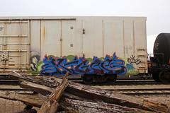 Migee (The Braindead) Tags: street art car minnesota train bench photography graffiti box painted tracks minneapolis twin rail explore beyond reefer the braindead cites armn ibd migee