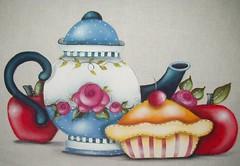 Bule com tortas e mas (Acrilex) Tags: