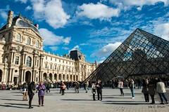 Outside the Louvre (idashum) Tags: paris france museum landscape nikon louvre ida shum glasspyramid d800 cityoflight formerpalace idashum idacshum tpslandscape tpstravel gpsetest impeiglasspyramidentrance