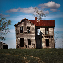 This Form I Hold Now (Rodney Harvey) Tags: old blur face farmhouse rural sad decay abandonedhouse lonely viewmaster leaner