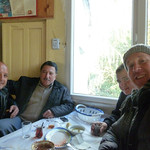 "Ali, Hoca, Sahin, and me at breakfast this morning <a style=""margin-left:10px; font-size:0.8em;"" href=""http://www.flickr.com/photos/59134591@N00/8247770826/"" target=""_blank"">@flickr</a>"