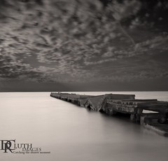 Broken Pier (Dennis Cluth) Tags: art beach nikon long exposure florida monotone coastal bradenton d800 coasta bradentonbeach