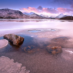 Ice on the rocks (PeterYoung1) Tags: uk mountains nature beautiful landscape scotland scenic squareformat glencoe atmospheric rannochmoor