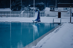 Sancta Lucia (Lauri Hannus) Tags: blue snow reflection water saint 50mm december empty slide lucia turning 2012 functionalism pori