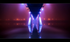 Infinity II (scott masterton) Tags: uk bridge light england mist reflection water fog river scott pentax infinity north freezing east stockton fascinating masterton tees sigma1020mm k30 w61rf