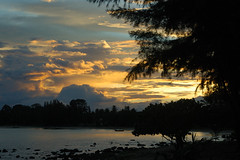 thai09-10-2012largecomp000181 (Gert Jan Mevius) Tags: sunset sea panorama seascape digital landscape thailand zonsondergang nikon d70s lightanddark dsrl