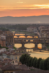 incidental (T N K) Tags: pointe vecchio firenze italia italy florence sunset rive water bridge city color