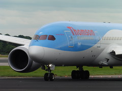 Thomson G-TUIF (North West Transport Photos) Tags: thomson thomsonairways boeing 787 7878 dreamliner boeing787 gtuif neil tui taxi viewingpark runwayviewingpark runway 23r runway23r landing flight tom2203 tenerife man manchester manchesterairport manchesterringway egcc plane aeroplane airplane aircraft jet aviation