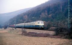 456 106 + 107  bei Eberbach  19.02.84 (w. + h. brutzer) Tags: analog train germany deutschland nikon eisenbahn railway zug trains db 456 eberbach eisenbahnen triebwagen triebzug et56 triebzge webru