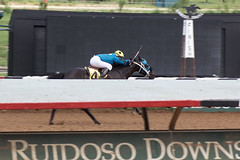 Ahead of the pack (DanJBailey) Tags: horseracing horsetrack racetrack outdoors jockey newmexico nm ruidoso downs horse horses thoroughbred race racing canon 60d