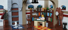 The Writer (DePin0) Tags: lego moc vignette nijdamhp writer castle cat knight