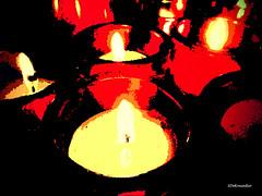 Candles (Stephenie DeKouadio) Tags: canon photography painting indoor washington washingtondc dc saintstephendc red darkandlight light candle candles color colour