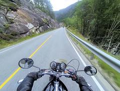 Enjoying ride and nature. (topzdk) Tags: norway mc motorcycle honda bmw summer 2016 motorcycleride rysstad brokke