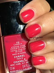 Chanel Camelia 506 (purple yellow) Tags: chanel camelia nail polish 506