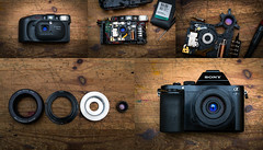 Canon Prima with 35mm f3.5 Lens Refitted (Lens Bubbles) Tags: canon prima 35mm f35 diy