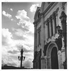 Cathedral of Christ the Saviour (konstantin_nemudrov) Tags: храмхристаспасителя россия пленка салютс 6x6 ilford 120film panf moscow russia vega12v rodinal bw filmdevkn filmdev:recipe=10936 ilfordpanf50 film:brand=ilford film:name=ilfordpanf50 film:iso=50