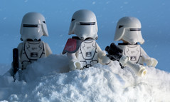 Snow Troopers aftermath (jezbags) Tags: lego macro macrophotography macrodreams macrolego star starwars snow troopers snowtroopers blue white red helmet guns canon60d canon 60d 100mm
