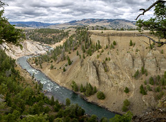 Calcite Springs of Yellowstone, Panorama (E.K.111) Tags: panorama pano ptgui stitching canon5dmarkiii lightroom6 nature nationalpark outdoors wilderness geology yellowstone river mountains