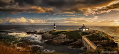 Isla Pancha Lighthouses, Ribadeo, Galicia, Spain (dleiva) Tags: ribadeo lugo galicia spain islapacha landscape paisaje panorama panoramic dawn amanecer faro lighthouse mar sea dleiva domingo leiva