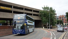 Nottingham to Gotham (Lady Wulfrun) Tags: nct 646 yn15ejj southnotts service gotham maidmarionway nottingham city transport 1 ncp carpark multistorey ford focus underpass enviro