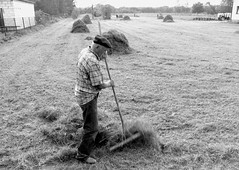 old man raking (fagion) Tags: poland polska rake field peasant polish canon700d strachw liwiec