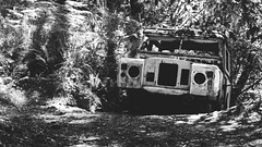 Jeep (Ambe) Tags: jeep bw blancoynegro bosque abandonado forest abandoned 4x4 sony a55