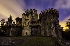 Castillo de Butrn (A.Coleto) Tags: castillo butron noche night nubes naranjas estrellas