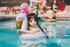 The Pool Party (Sharon Wright Photography) Tags: bjd kayewiggs lizfrost wizworx marbledhalls connielowe twigg gracie maurice charlescreaturecabinet ping poink polol party summer vacation swim kid floatie potbellypig minipig squirtgun lifepreserver summerfun children artdoll barbie dollcollecting sharonwright dollpics