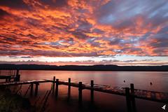 2...coucher de soleil apres la pluie sur le lac Leman (natur6belle) Tags: sunset lac eau water couleur orange pont night nuit