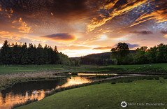 Callander, Scotland (Silent Eagle  Photography) Tags: sep silent eagle photography silenteaglephotography canon scotland lake sunset green nature sky clouds orange reflection bird lamb silenteagle09 outdoor outside trees wheater plants canoneos5dmarkiii iso50 water