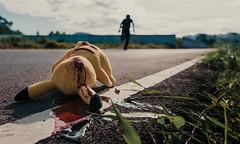 Pokemon Gone (game over) (polo.d) Tags: pokemon go gone funny murder blood street road gun shot wound bullet head dead death kill run away